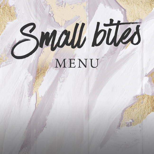 Small Bites menu at The Dukes Head